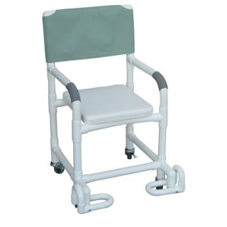 MJM International Standard Deluxe Shower Chair with Soft Seat and Footrest with Optional Accessories