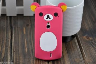 Lovely Cute Teddy Bear Silicone Case for Sony Ericsson Xperia V MT11i Neo MT15i