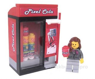 21st Century Modern Vending Cola Machine Custom Lego City Food 10185 Drink