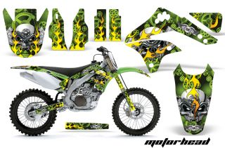 AMR Racing Motorcross Sticker Wrap Graphic Decal Kit Kawasaki KXF 450 06 08 MHG