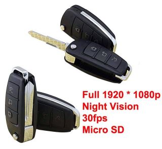 Full HD1080P IR Night Vision Spy Car Key DVR Recorder Motion Detection Camera