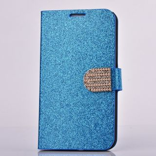 Crystal Diamond Rhinestone Glitter Bling Flip Wallet PU Leather Stand Case Cover