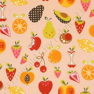Alexander Henry Willow Orchard Fruit Pink Cotton Fabric