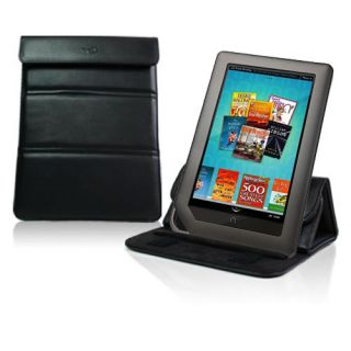 Black Folding Leather Case Cover Stand Barnes Noble Nook Color and Nook Tablet