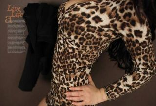 Sexy Womens Low Cut V Neck Dresses Cocktail Party Leopard Long Top Mini Dress