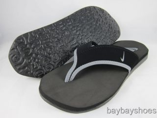 Nike Celso Thong Plus Black Cool Gray Wolf Gray Flip Flop Sandals Mens All Sizes