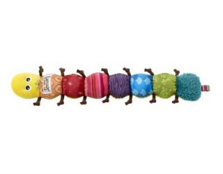 Soft Musical Inchworm Baby Development Toy Song Rattles Squeaks Crinkles Jingles