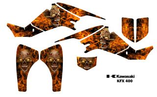Kawasaki KFX 400 ATV Graphic Decal Sticker Kit 9500N