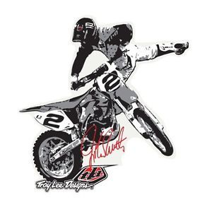 Troy Lee Designs TLD Jeremy McGrath Nacnac Stickers MX Dirt Bike Decals Graphics