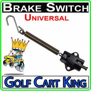 Universal Mount Brake Light Switch for Golf Cart ATV Tractor Dune Buggy