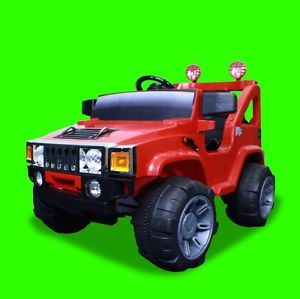 New 12V Battery Powered Kids Ride On Toy Truck Car w/ Remote 4 Wheel Red