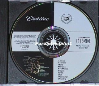 2003 GM Cadillac cts Navigation Map Disc CD 2 MCA2 5 1 AZ Co ID MT or TX UT