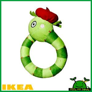 IKEA Baby Children Rattle Snake Soft Toy New