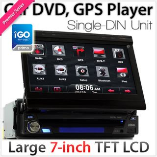 "7"" Single DIN Car DVD GPS Player Head Unit Player Stereo Radio SAT Nav Universal"