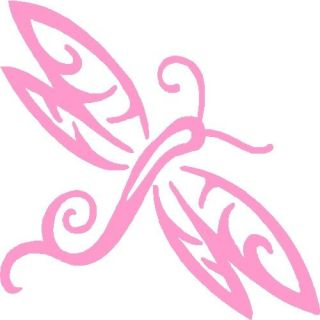 "Dragonfly Vinyl Car Decals Graphics 5"" x 5"" Pink Design 06"
