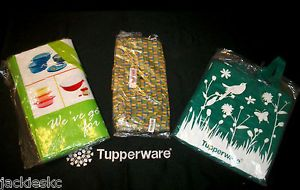 Tupperware Go Green Choice Eco Reusable Shopping Bags Picnic Books Travel Toys