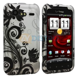 Black White Zebra Case Cover for HTC Droid Incredible 2