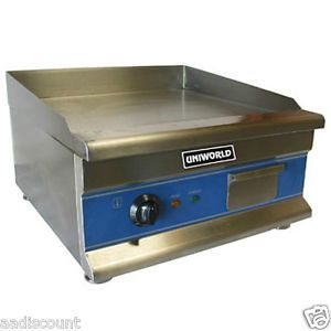 "New Uniworld 20"" Electric Griddle Grill Counter Top Single Thermostat UGR CH20"