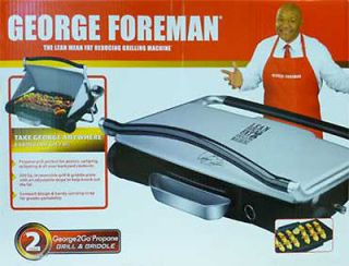 George Foreman 2GO Portable Propane Grill and Griddle Model GP200