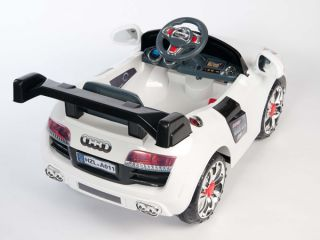 Audi R8 GT Style Kids 12V Electric Power Wheels Ride on Car  RC Remote White