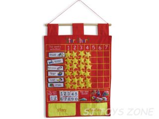 My Reward Star Chart Red Wallhangings Learning Activity Kids Toy Gift