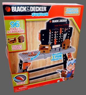 Black N Decker Jr Work Bench Power Toy Pretend Play Tool Set for Kids and Junior