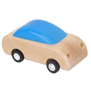 Kids Children Pull Back Car Racer Model Collectible Toy Wooden Plastic Cute