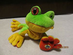 Webkinz Green Golden Red Tree Frog Used Stuff Animal Kids Toy Treefrog