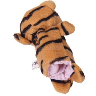 Tiger Parent Child Style Velvet Hand Puppet and Finger Puppet Set Kids Plush Toy