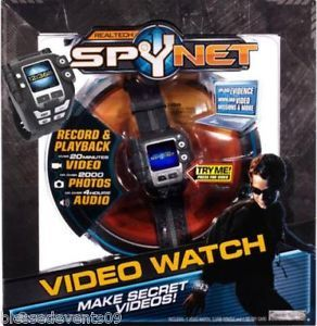 Spy Net Video Watch Ages 8 Camera Record Photos Kids Boys Toy Color TFT Screen