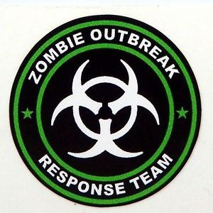 3 Zombie Outbreak Response Team Tool Box Hard Hat Helmet Sticker Green H125