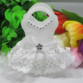 12pc Chic Bride Groom Bags Wedding Bomboniere Candy Gifts Favor White BB02