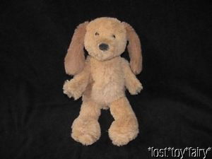 "10 5"" Pbk Pottery Barn Kids Brown Puppy Dog Soft Plush Stuffed Animal Baby Toy"