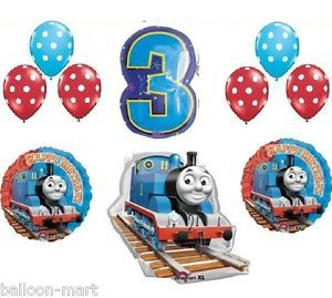 Thomas Tank Train Engine Party Balloons Birthday Supplies Third Railroad 3rd XL
