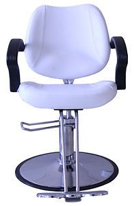 New White Hydraulic Styling Barber Chair Hair Beauty Salon Equipment