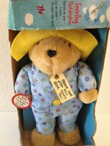 Paddington Bear Plush Snoring Teddy Sleeping Pajamas New Kids Gifts Stuffed Toy