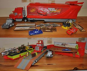 Disney Cars Mega Mack Playtown Set with Sounds Truck Bessie Doc Kids Toy Cars