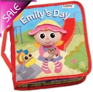1× Infant Baby Kid Child Lamaze Cloth Book Emily's Day Crinkle Peek A Boo Toys