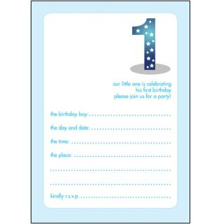 10 Childrens Birthday Party Invitations 1 Year Old Boy Bpif 04