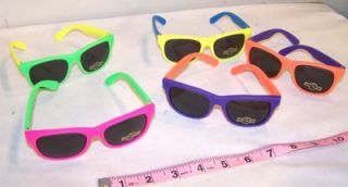 2 Adult Fashion Rubber Sunglasses Retro Glasses Neon Eye Wear Womens Mens New
