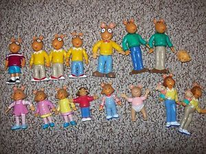 Arthur Figures TV PBS Kids Toys Girl Boy Collectible DW Arthur
