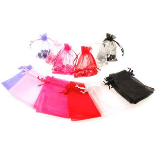 50 25 Organza Wedding Party Favour Bag Jewellery Box Pouch Large Medium Small