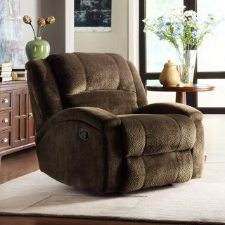 New Name Brand Brown Microfiber Recliner Chair Soft Plush Reclining Chairs