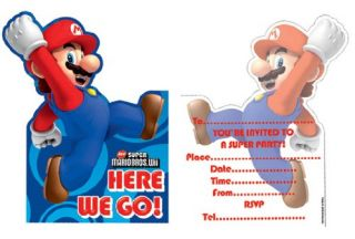Super Mario Bros 6 Party Invitations