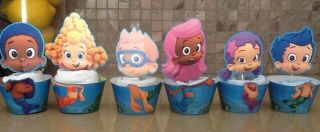 Bubble Guppies Cupcake Wrappers and Toppers Cupcake Liners Cupcake Supplies