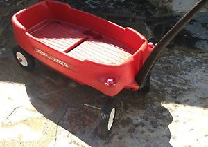 Radio Flyer Pathfinder Plastic Red Wagon Two Seater Kids Children Toy Cart