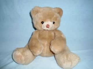 "RARE Vtg Russ Berrie 10"" Plush Tan Light Brown Teddy Bear Bubby Stuffed 7668"
