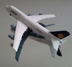 Majorette Lufthansa Boeing Jet Model 747TM Airplane Metal Die Cast Vtg Kid's Toy