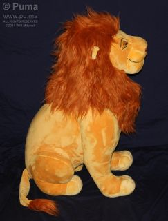 "The Lion King Huge 34"" Jumbo Mufasa Plush Stuffed Toy Disneystore"