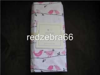 Pottery Barn Kids Girl Pink Chocolate Brown Penelope Nursery Crib Fitted Sheet